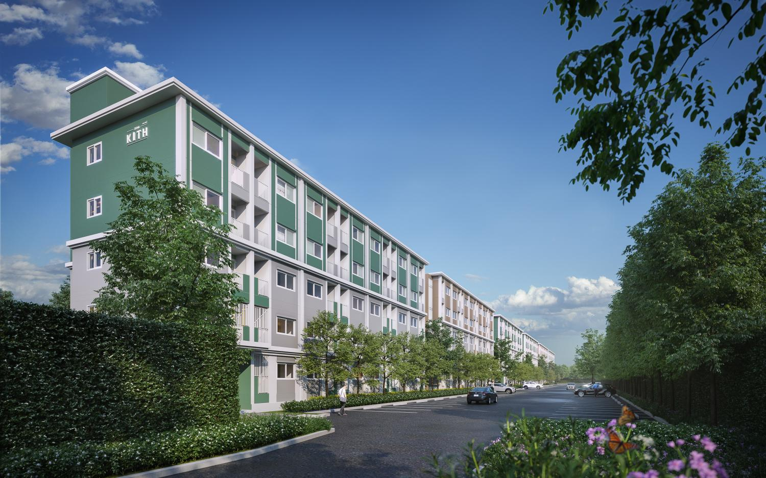 An artist's rendition of Sena Kith Thepharak-Bang Bo, a lower-priced condo project Sena Development launched last year with units priced from 800,000 baht.